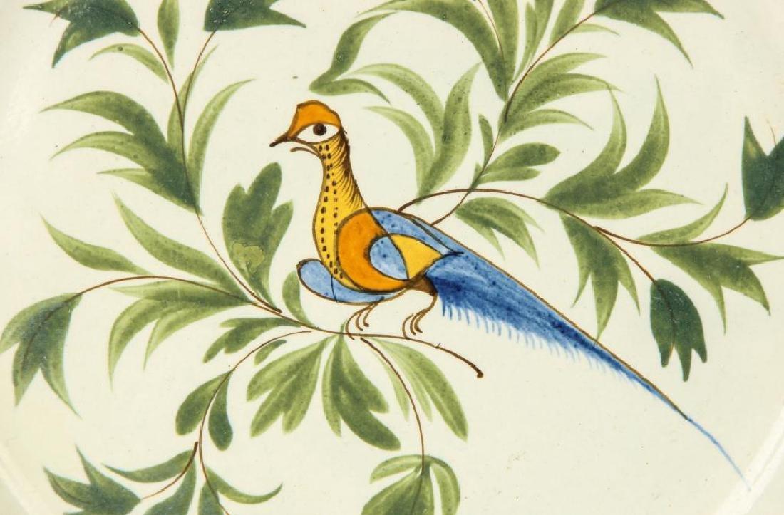 THREE BIRD DECORATED SPATTERWARE PLATES - 2