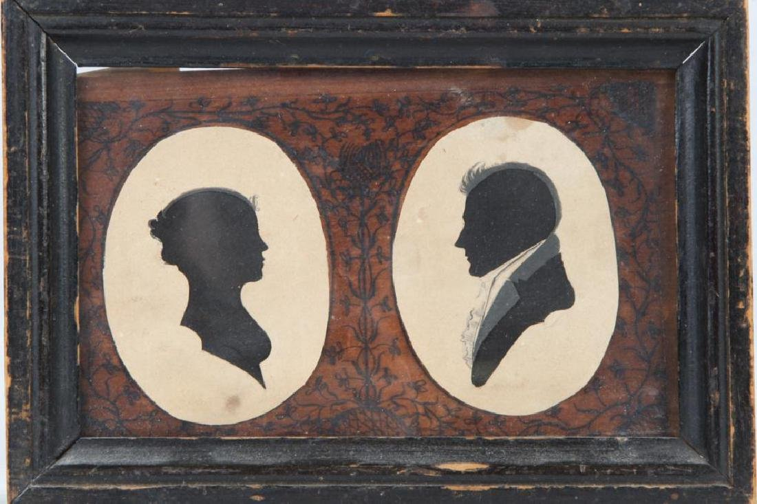 FOUR 19TH CENTURY FOLK ART PORTRAIT SILHOUETTES - 2