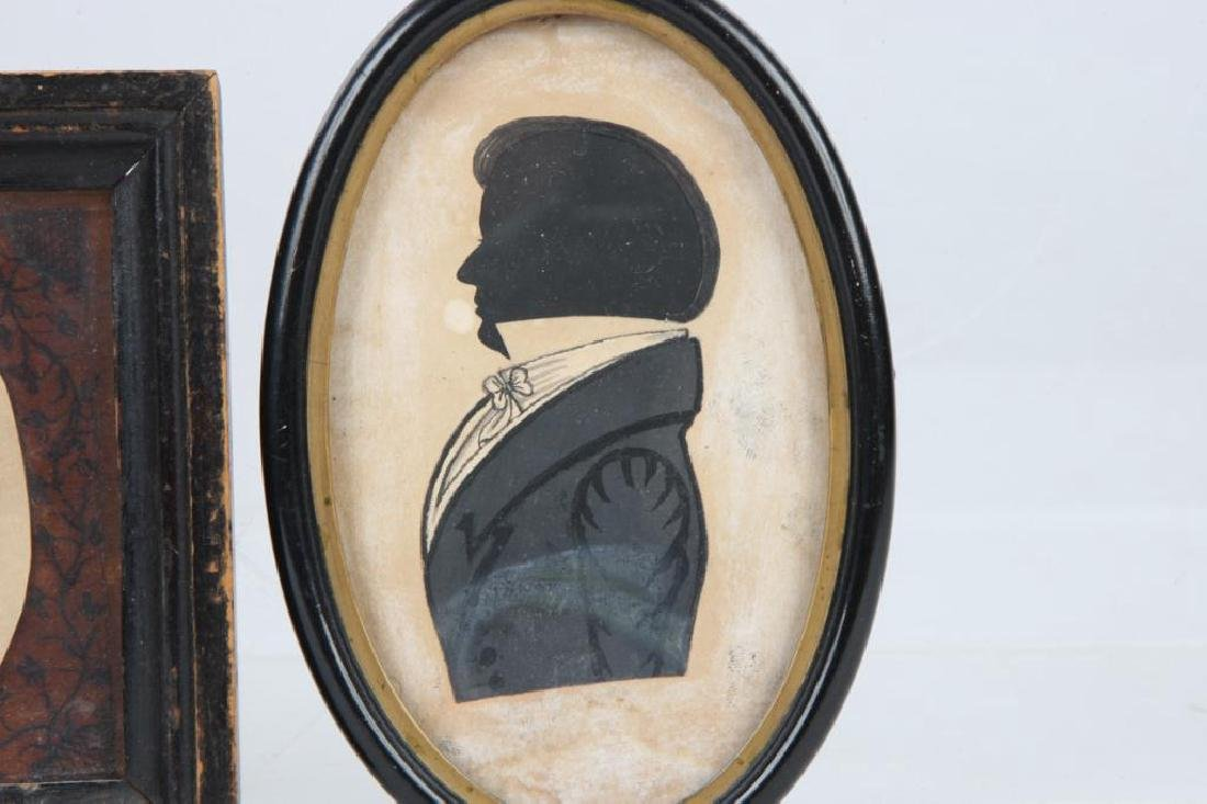 FOUR 19TH CENTURY FOLK ART PORTRAIT SILHOUETTES - 3