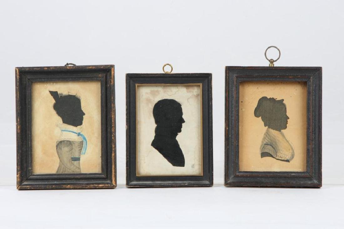 THREE FOLK ART CUT PAPER SILHOUETTES