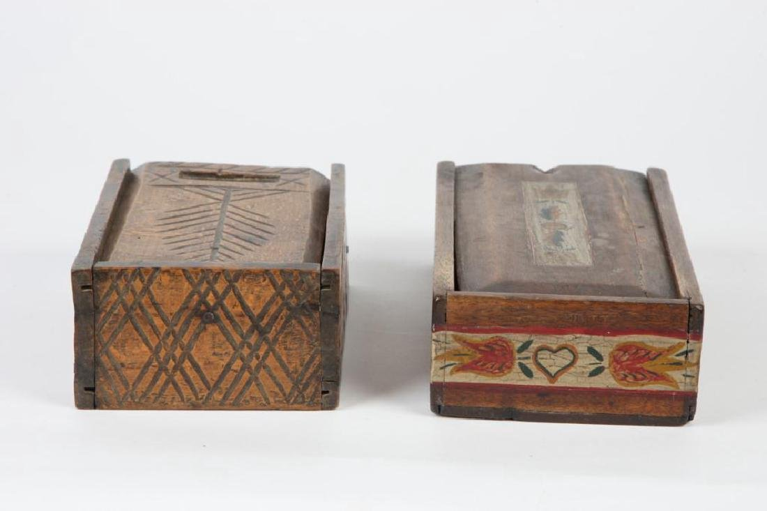 TWO (19thc ) DECORATED SPICE BOXES - 3