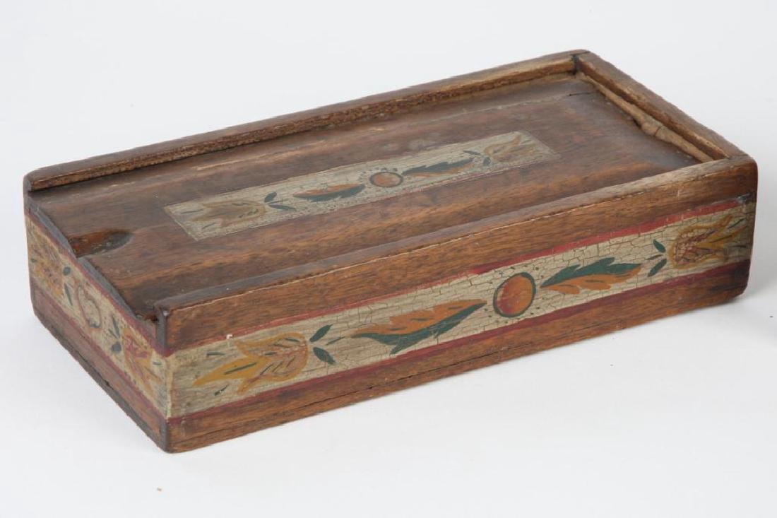 TWO (19thc ) DECORATED SPICE BOXES - 4