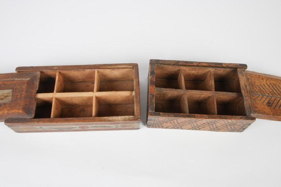TWO (19thc ) DECORATED SPICE BOXES - 7