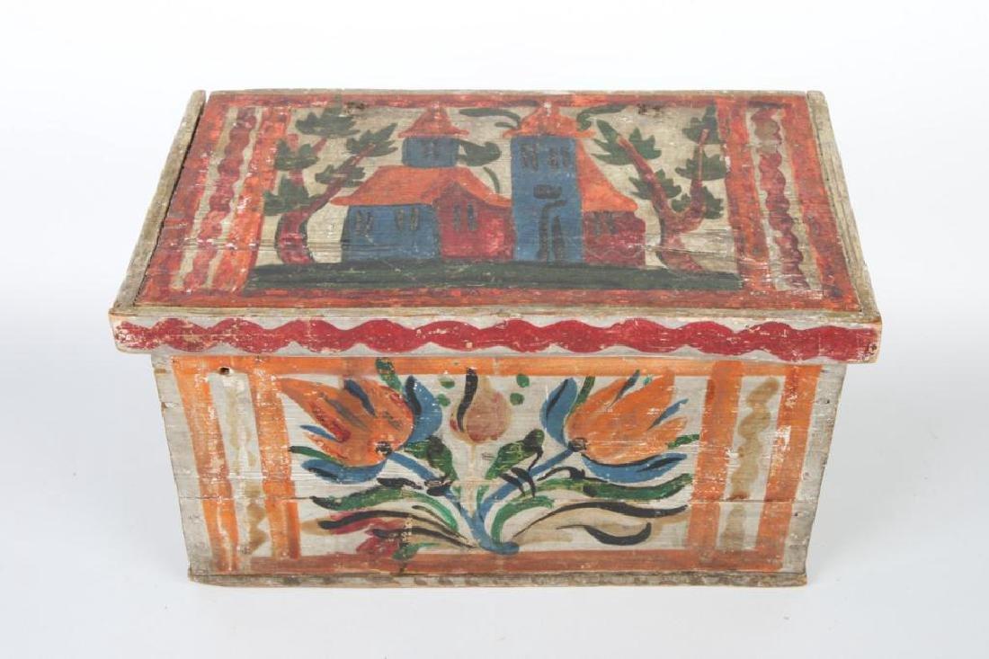 SCANDINAVIAN POLYCHROME BOX with TILL - 4