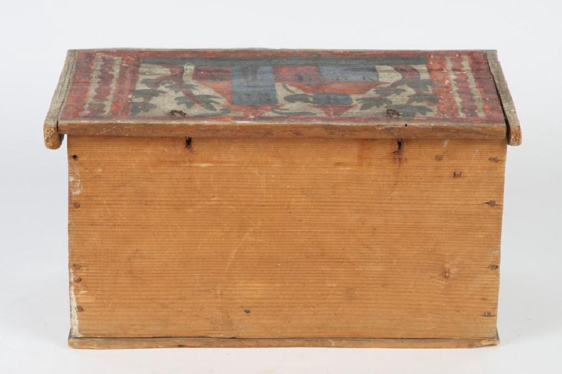 SCANDINAVIAN POLYCHROME BOX with TILL - 8