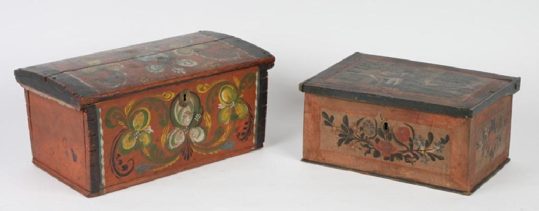(2) PENNSYLVANIA DUTCH BRIDE'S BOXES