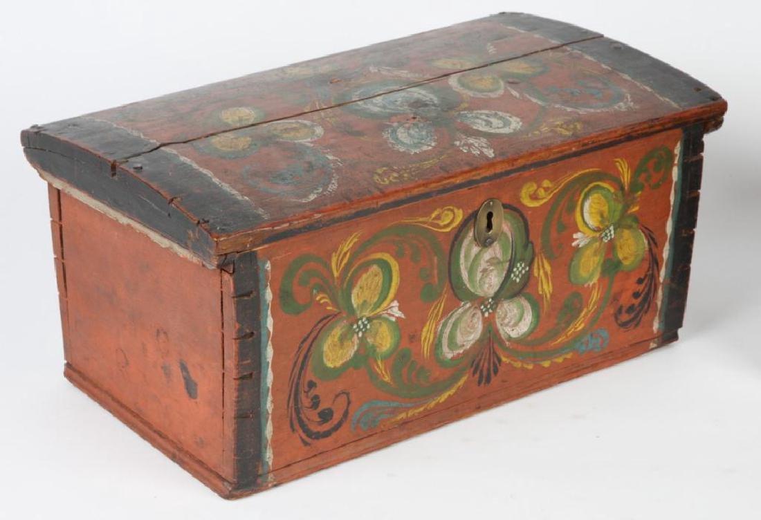 (2) PENNSYLVANIA DUTCH BRIDE'S BOXES - 4