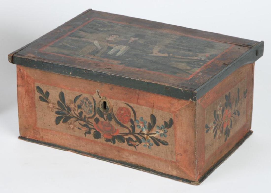 (2) PENNSYLVANIA DUTCH BRIDE'S BOXES - 5