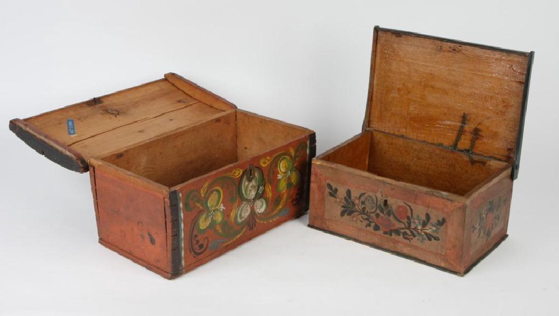 (2) PENNSYLVANIA DUTCH BRIDE'S BOXES - 6
