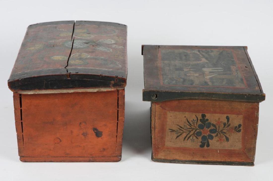 (2) PENNSYLVANIA DUTCH BRIDE'S BOXES - 7