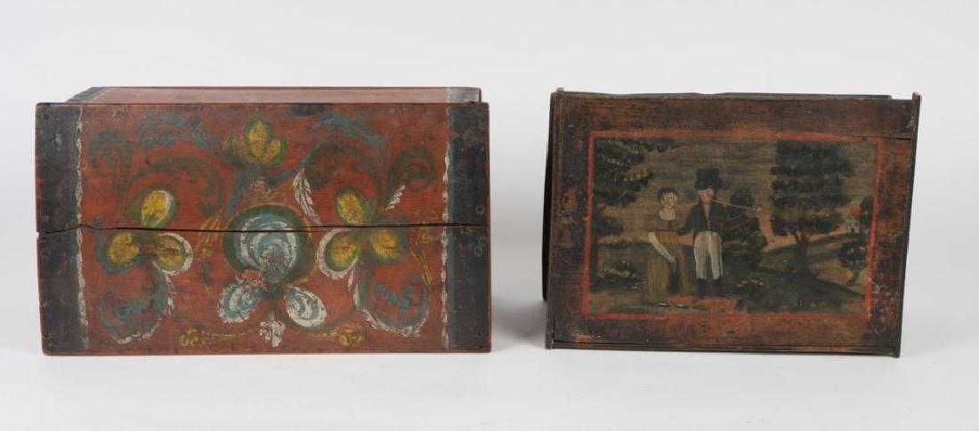 (2) PENNSYLVANIA DUTCH BRIDE'S BOXES - 8