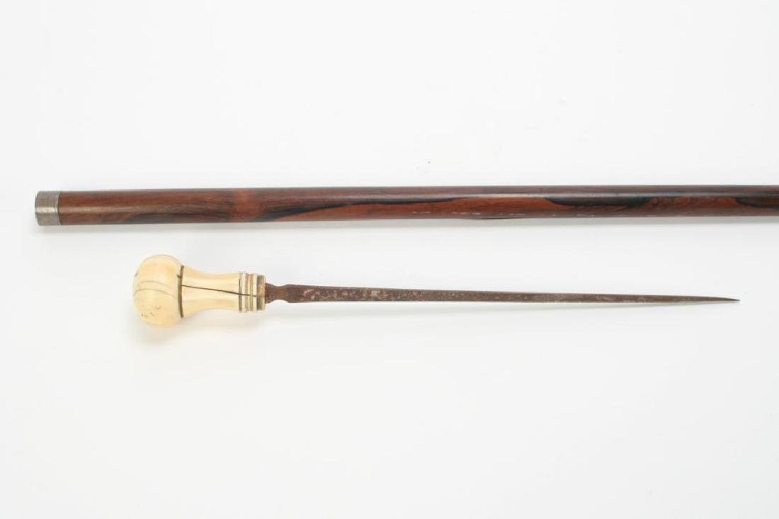 CA 1860 SWORD CANE WITH CARVED HANDLE - 3