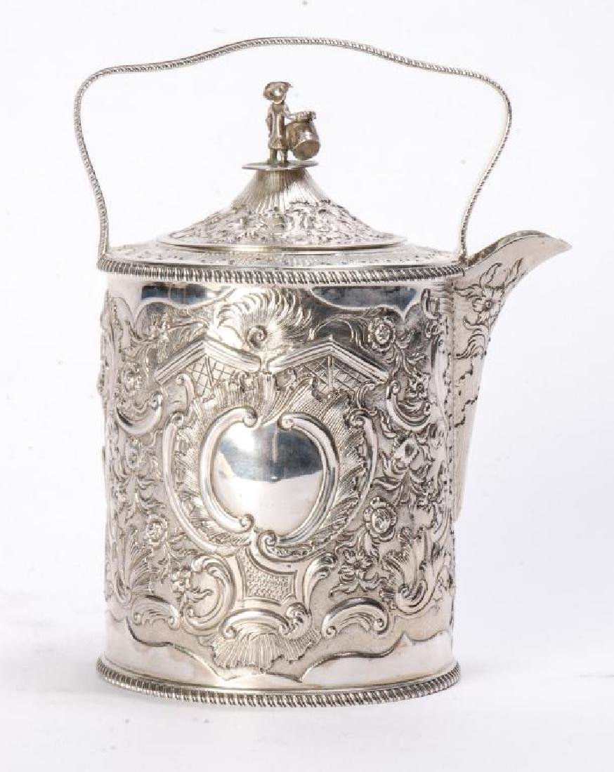 GEORGE III SILVER TEAPOT BY R&S HENNELL LONDON - 6