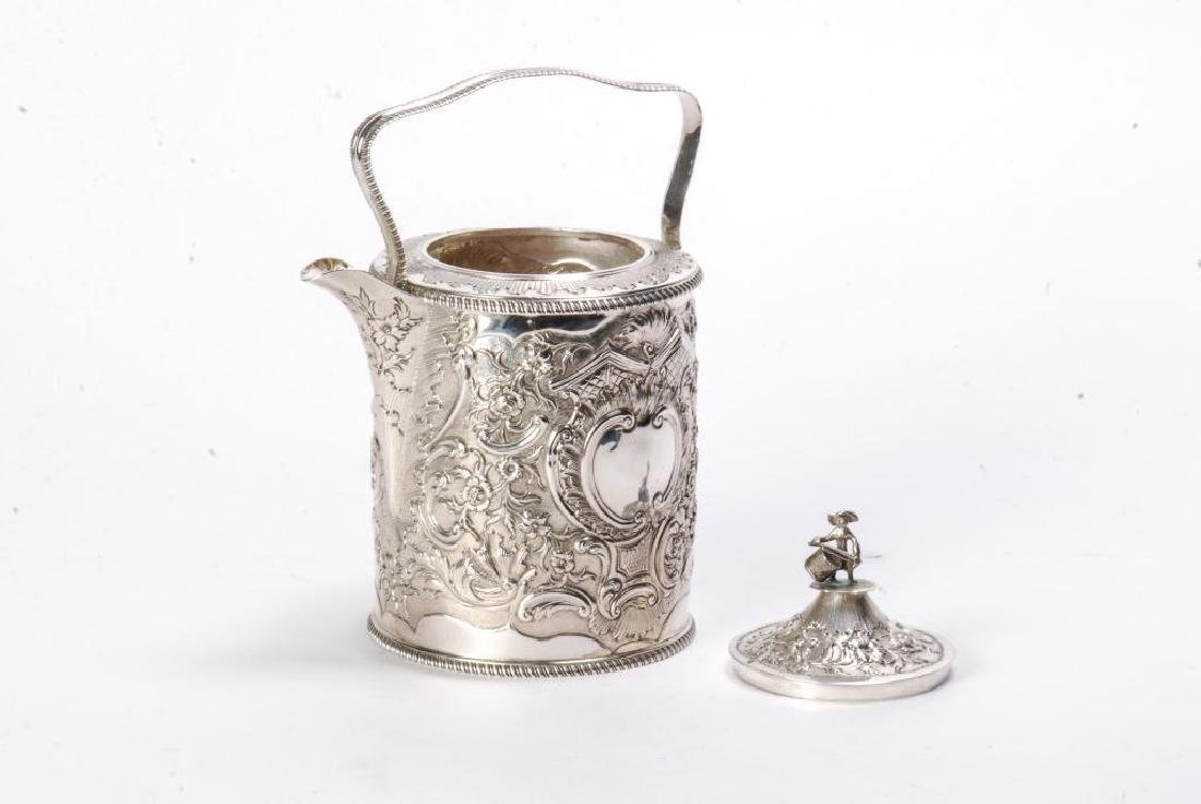 GEORGE III SILVER TEAPOT BY R&S HENNELL LONDON - 7