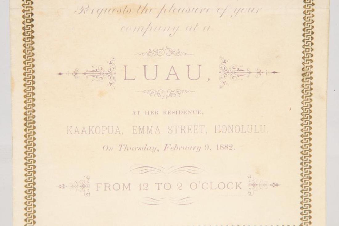 PRINCESS RUTH KEELIKOLANI HAWAII LUAU INVITATION - 3