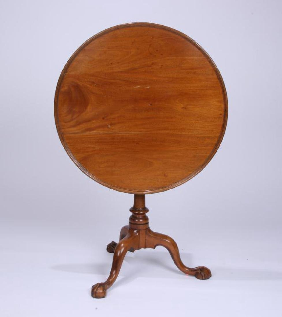 (18th c) AMERICAN CHPPENDALE TEA TABLE