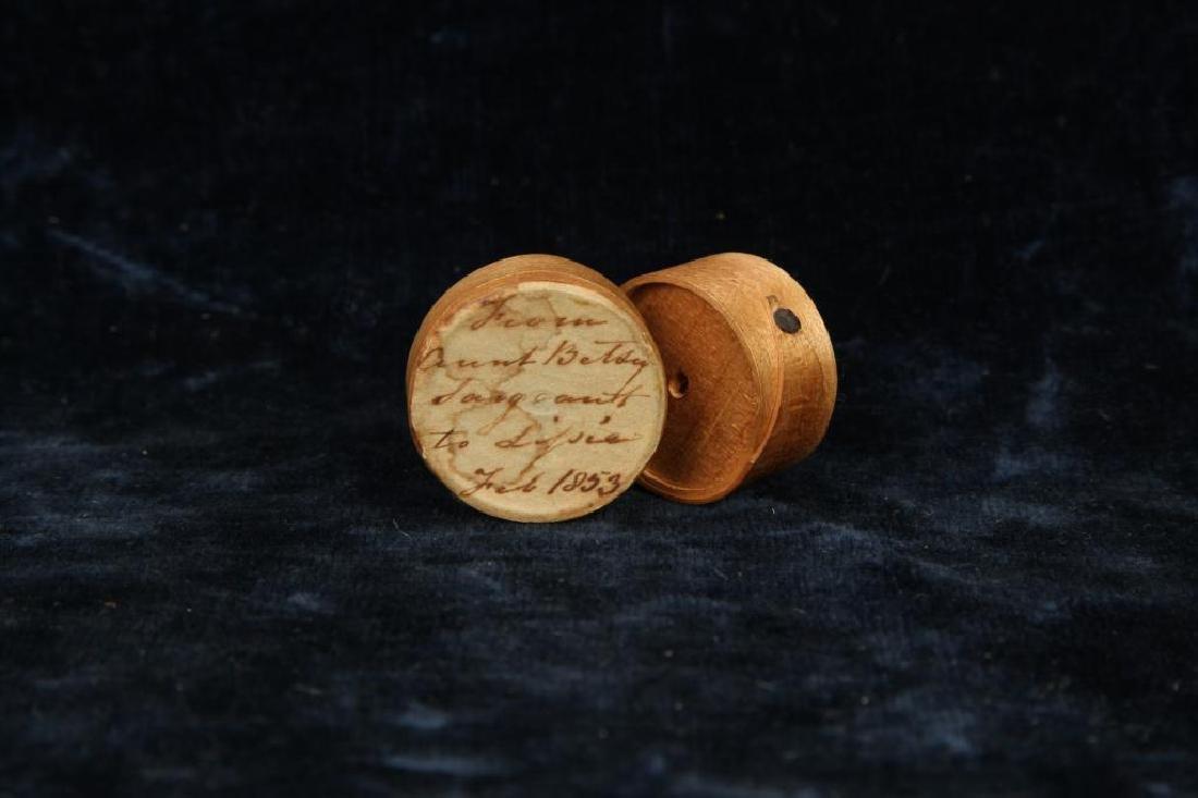 MINIATURE PANTRY BOX DATED 1853