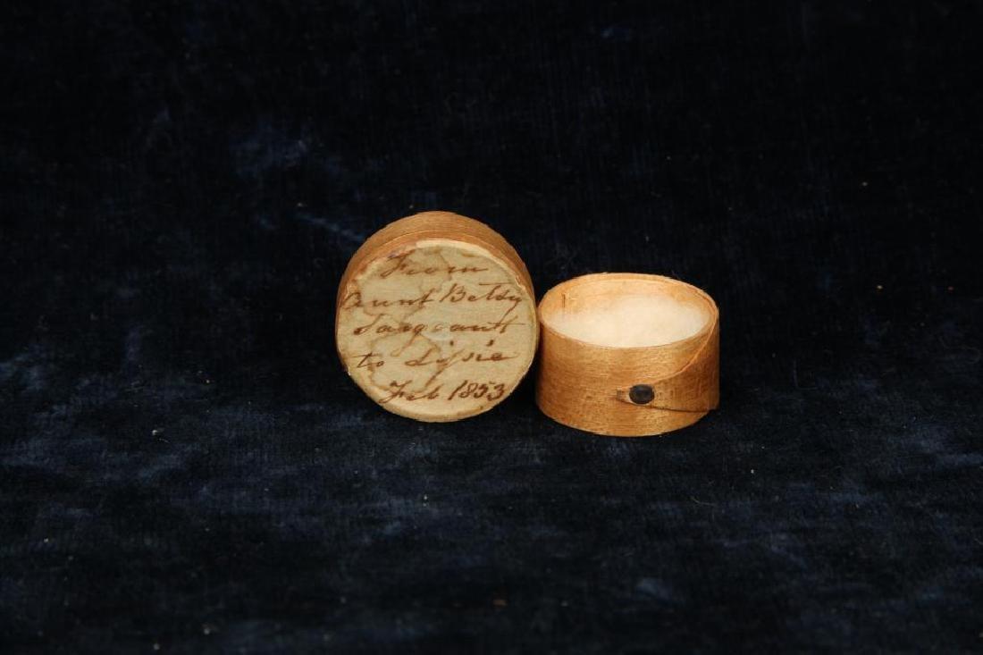 MINIATURE PANTRY BOX DATED 1853 - 3