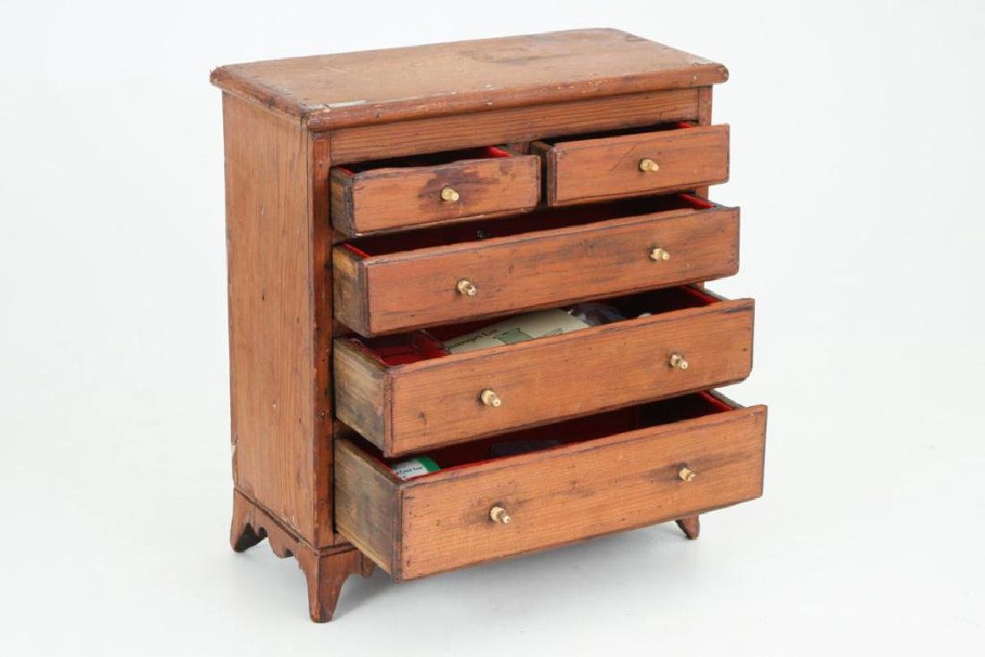 (18th / 19th c) MINIATURE CHEST OF DRAWERS - 2