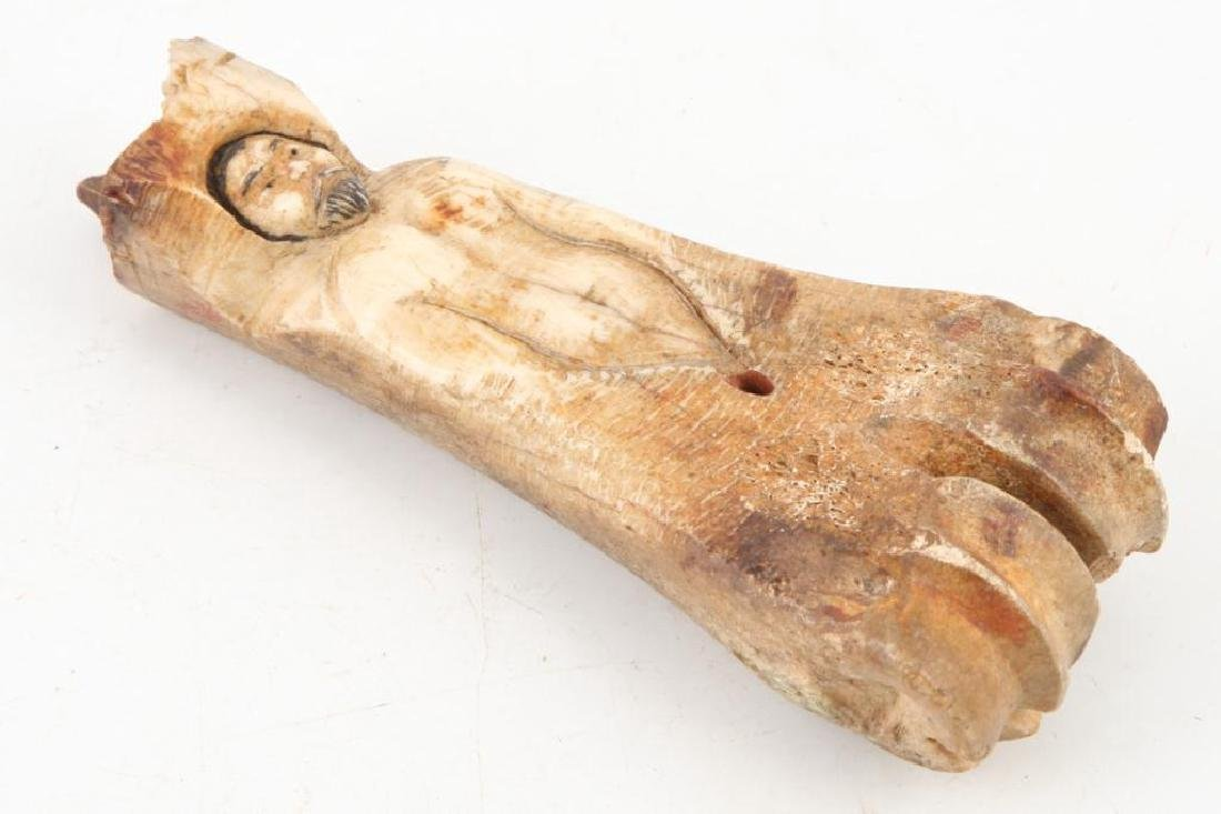 ANTIQUE CARVED BONE WHIMSY