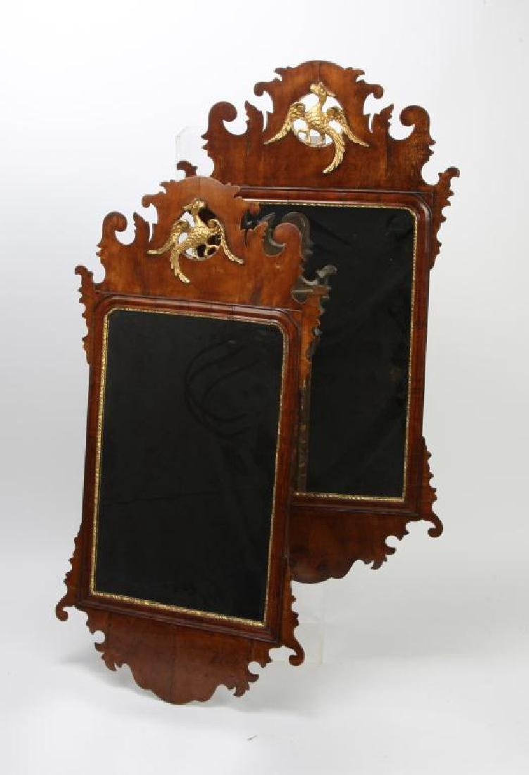 PAIR OF ENGLISH CHIPPENDALE STYLE MIRRORS