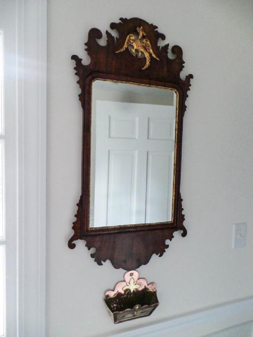 PAIR OF ENGLISH CHIPPENDALE STYLE MIRRORS - 6