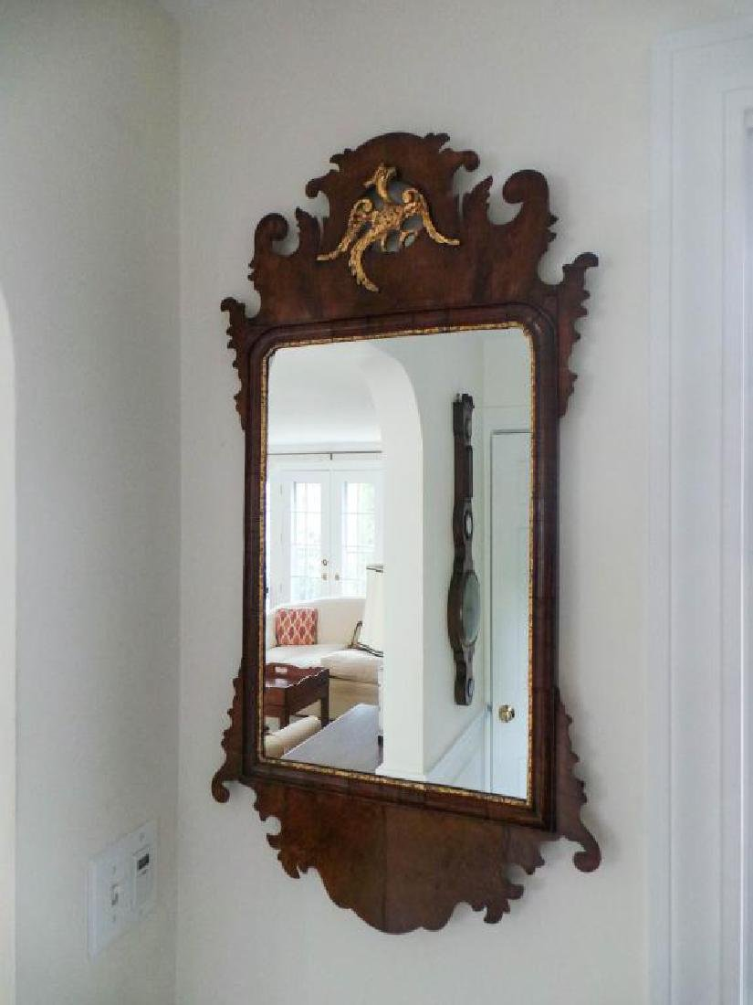PAIR OF ENGLISH CHIPPENDALE STYLE MIRRORS - 7