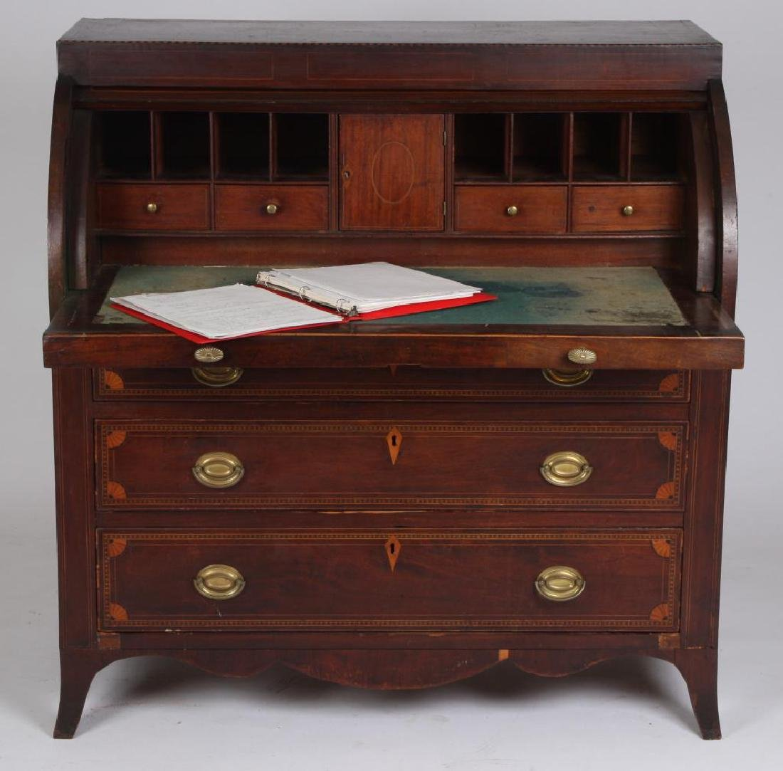 JAMES McHENRY IMPORTANT BALTIMORE CYLINDER DESK - 7