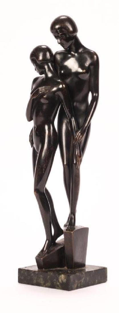 AMERICAN SCHOOL ART DECO BRONZE