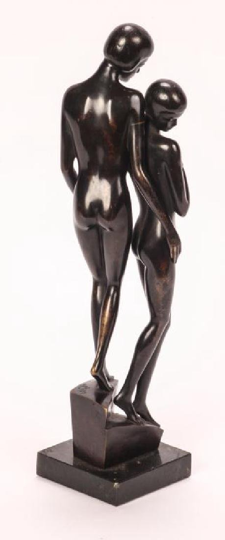 AMERICAN SCHOOL ART DECO BRONZE - 2