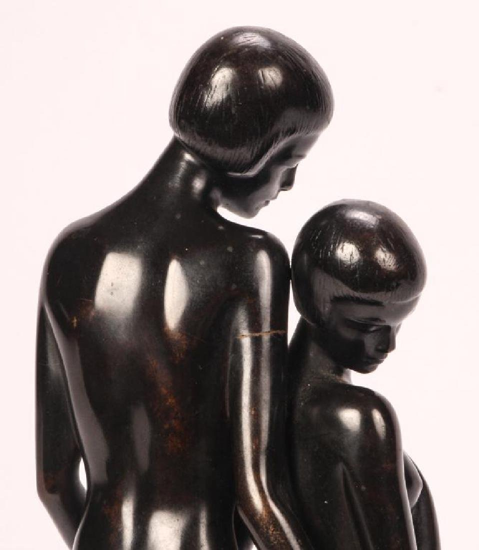 AMERICAN SCHOOL ART DECO BRONZE - 3