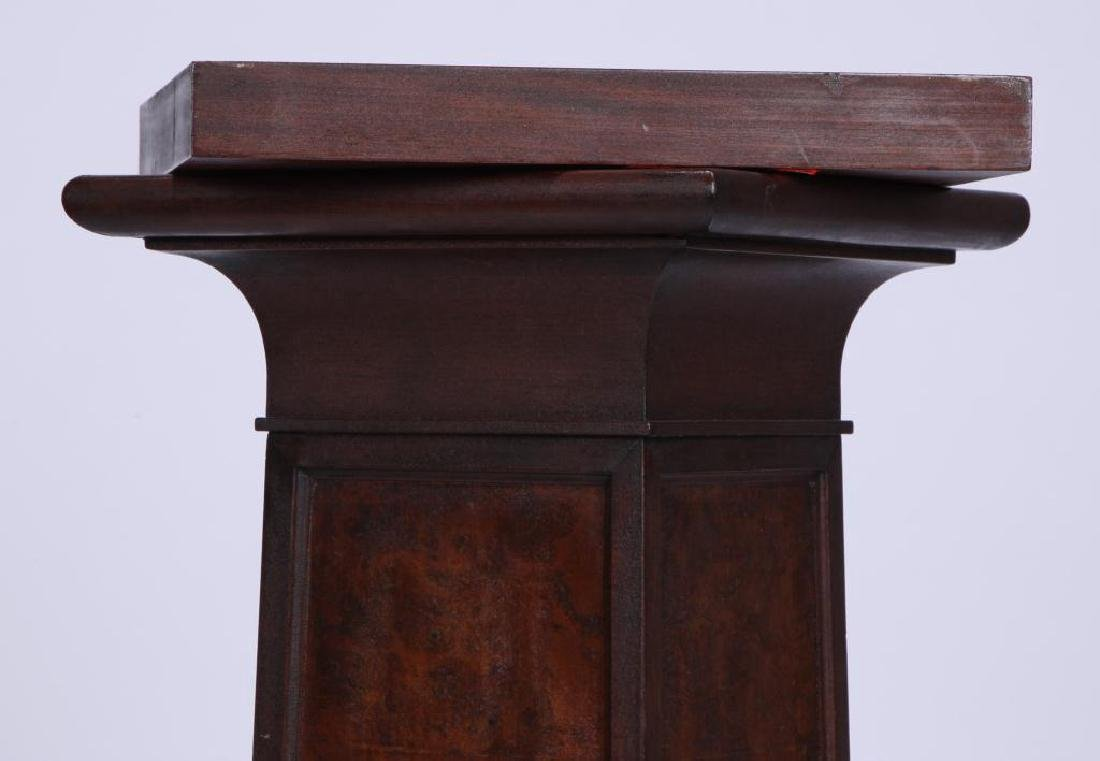 MAHOGANY AND BURL PEDESTAL attr. IRVING & CASSON - 2