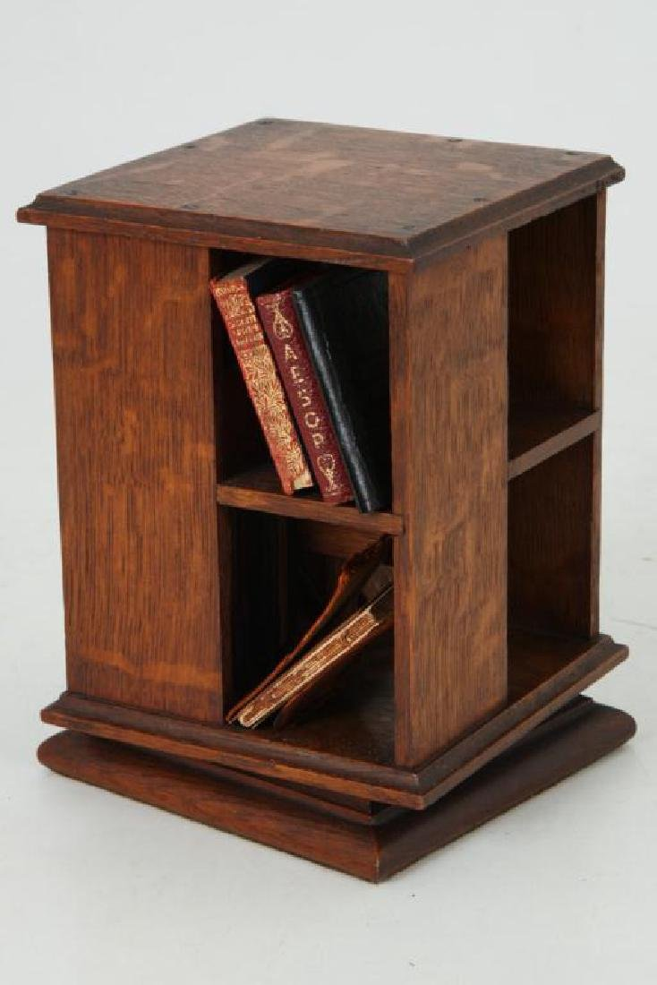 MINIATURE ROTATING BOOKCASE WITH BOOKS - 2