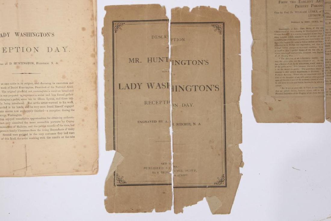 """""""LADY WASHINGTON'S RECEPTION"""" STIPPLED ENGRAVING - 7"""