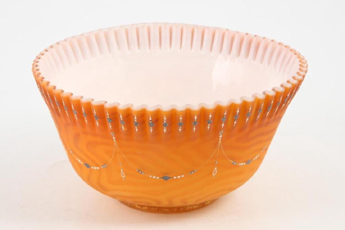 VICTORIAN QUILTED SATIN GLASS BOWL - 4