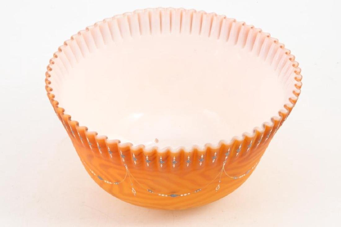 VICTORIAN QUILTED SATIN GLASS BOWL - 5