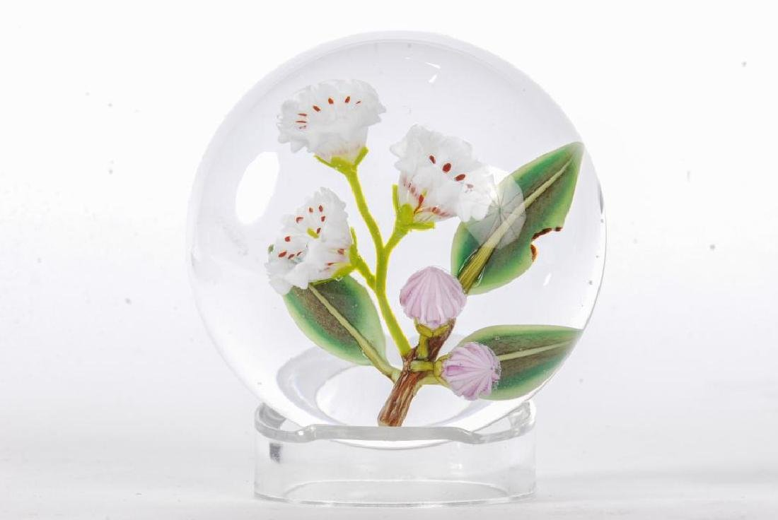 (2) FLORAL PAPERWEIGHTS by PAUL STANKARD & BOB BANFORD - 2
