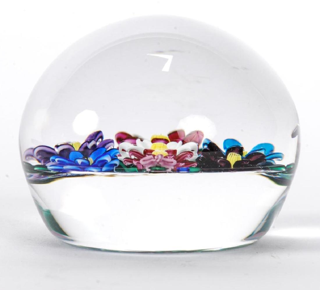 (2) FLORAL PAPERWEIGHTS by PAUL STANKARD & BOB BANFORD - 3