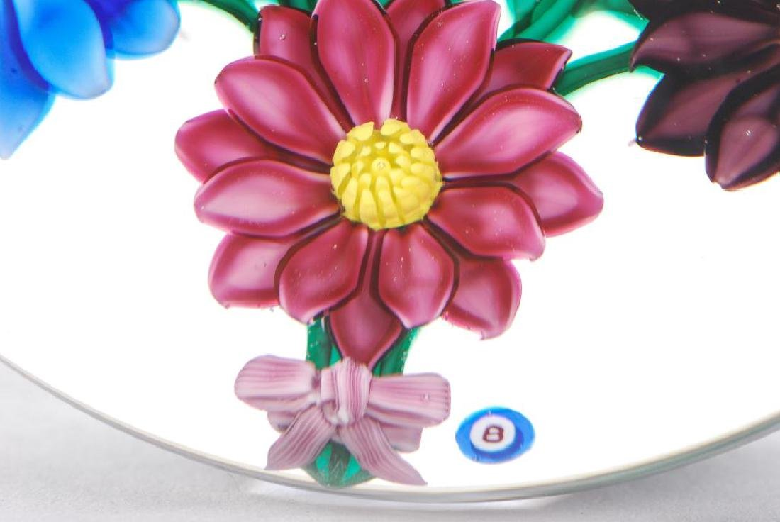 (2) FLORAL PAPERWEIGHTS by PAUL STANKARD & BOB BANFORD - 4