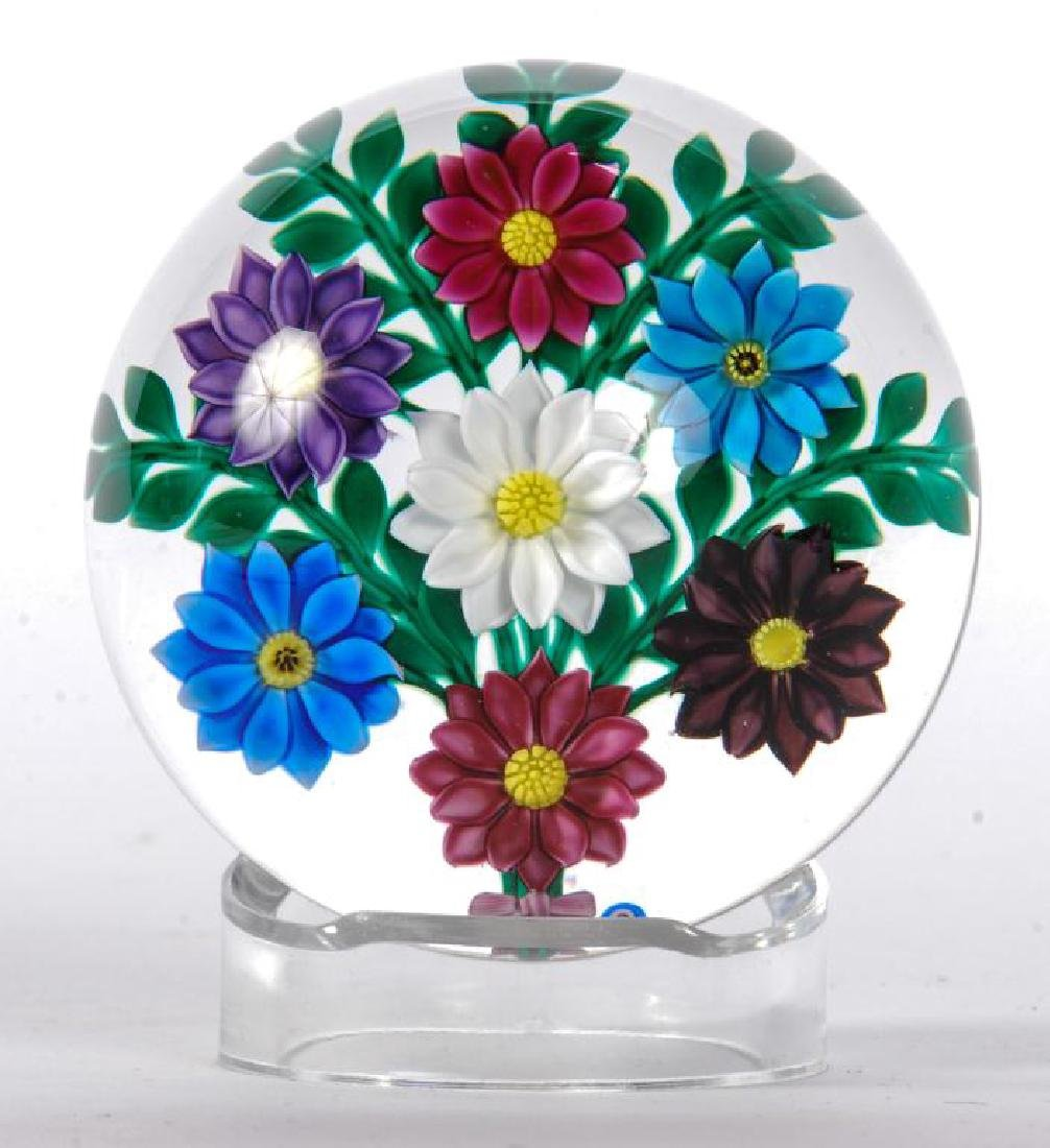 (2) FLORAL PAPERWEIGHTS by PAUL STANKARD & BOB BANFORD - 6