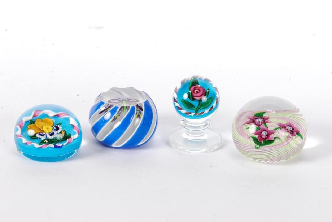 (4) SMALL SIGNED PAPERWEIGHTS - 5