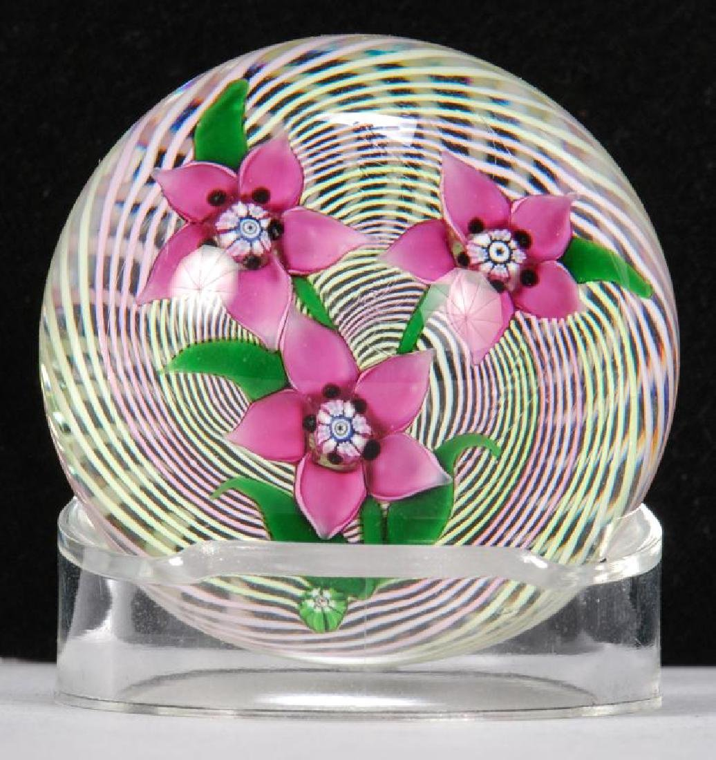 (4) SMALL SIGNED PAPERWEIGHTS - 8