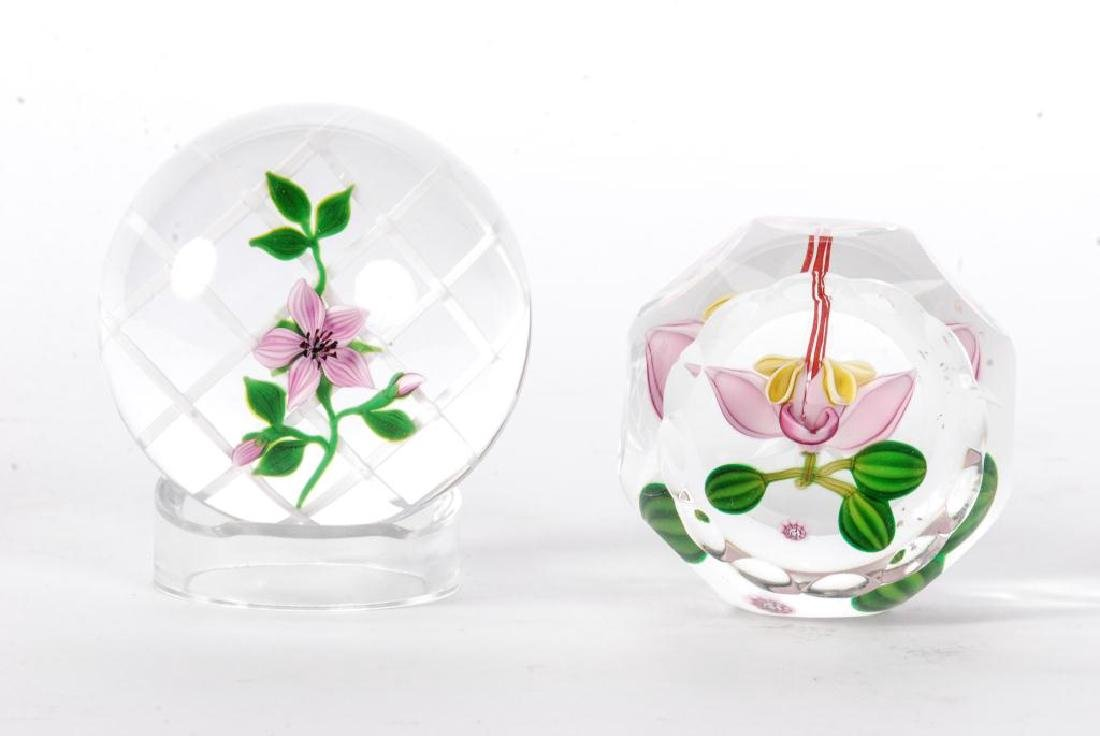 (2) SIGNED PAPERWEIGHTS
