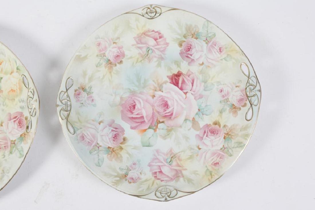 (2) ROYAL BAYREUTH ROSE TAPESTRY CAKE PLATES - 4