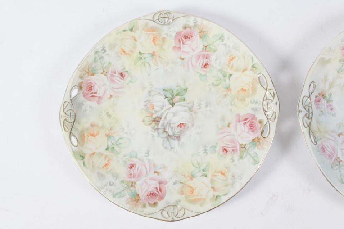(2) ROYAL BAYREUTH ROSE TAPESTRY CAKE PLATES - 5