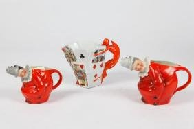 (3) ROYAL BAYREUTH PITCHERS / CREAMERS