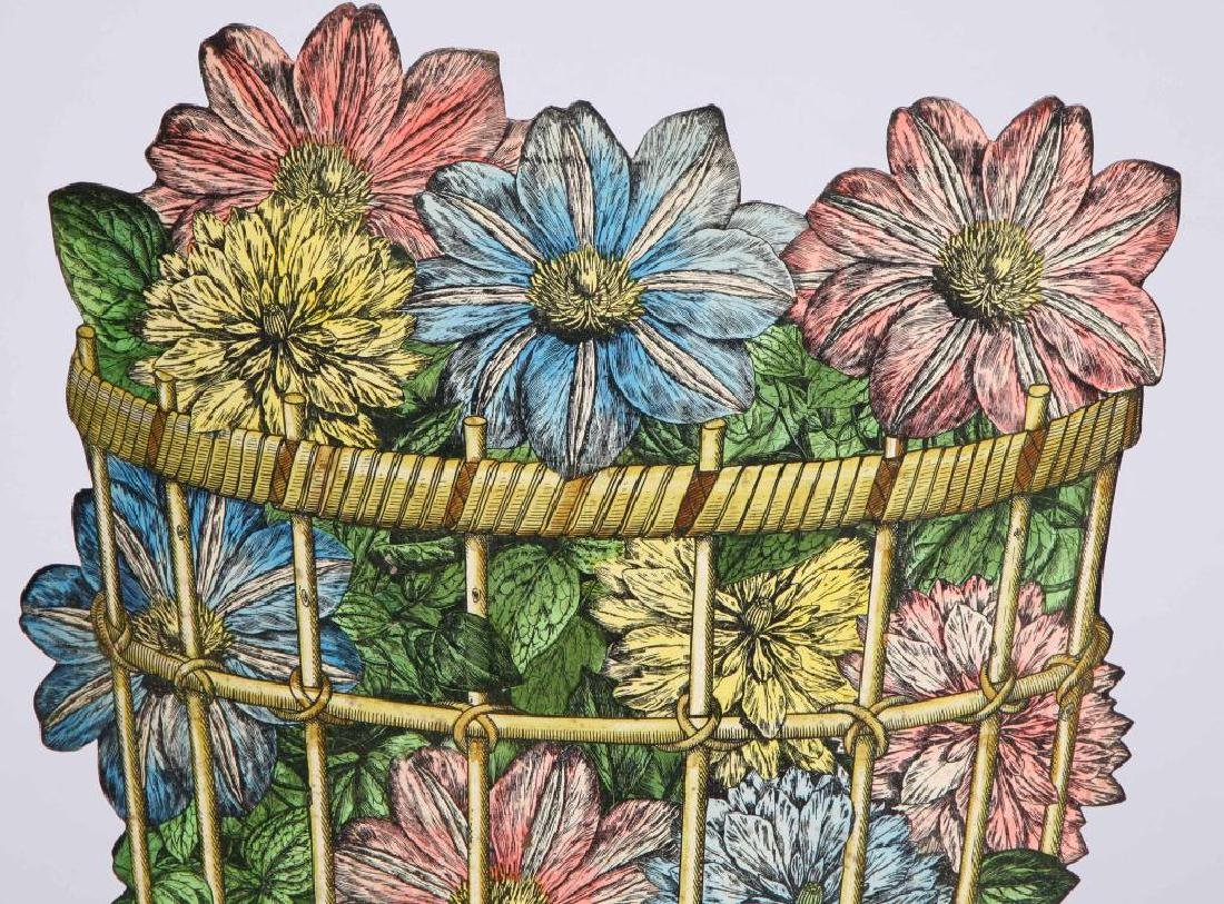 UNUSUAL UMBRELLA STAND WITH ENAMELLED BOUQUET - 2