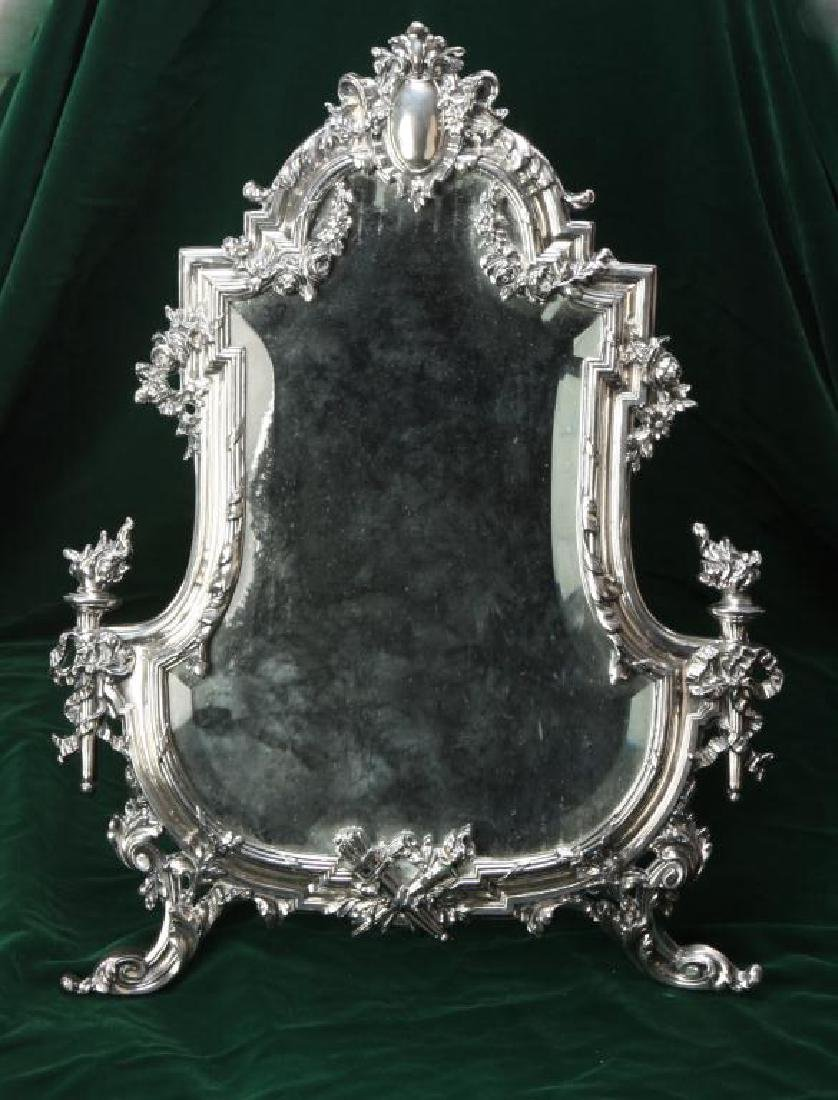 RENNAISSANCE REVIVAL TABLE MIRROR w/ HINGED STAND