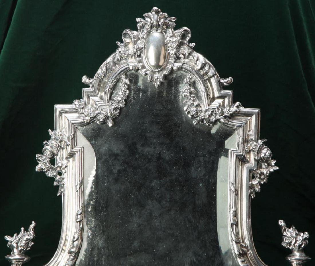 RENNAISSANCE REVIVAL TABLE MIRROR w/ HINGED STAND - 4