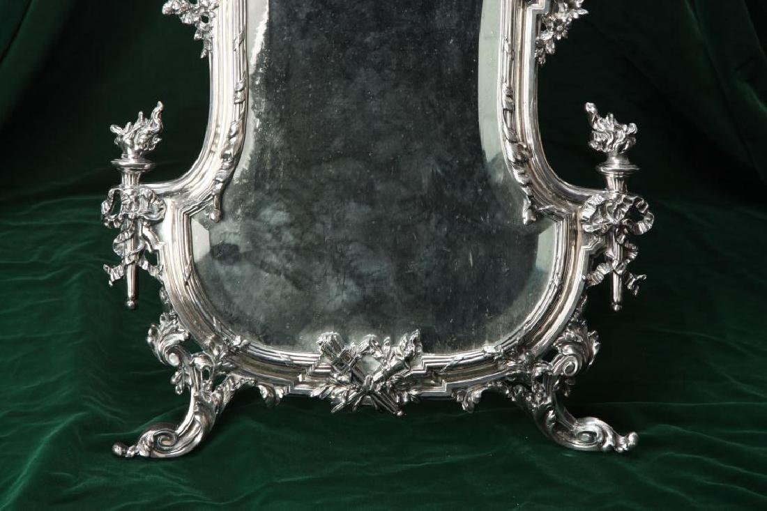 RENNAISSANCE REVIVAL TABLE MIRROR w/ HINGED STAND - 5